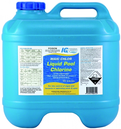 Liquid chlorine for Chlorination of swimming pools